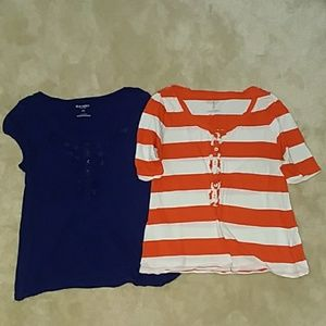 2 Women's Old Navy Shirts Large